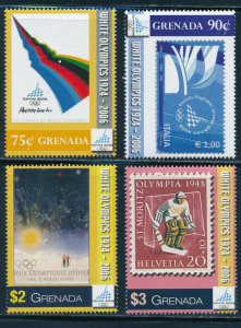 Grenada -Turin Olympic Games Sports Stamps Set (2006)