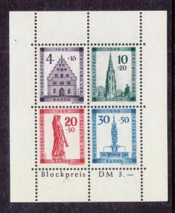 Germany (Baden) Scott #5NB8a S/Sheet MNH