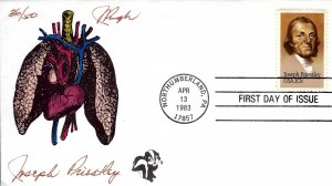 Pugh Designed/Painted Surgeon Joseph Priestly FDC...36 of Only 50 created!