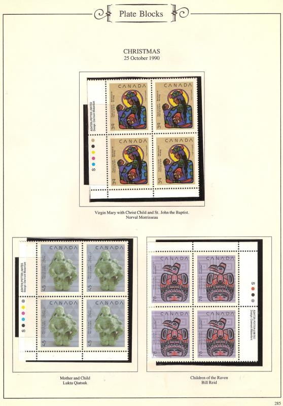 CAN PLATE BL41KS MNH STAMPS #1294-95-96 LOT#576
