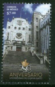 MEXICO 2807, UNIVERSITY OF GUANAJUATO, 280th ANNIVERSARY. MINT, NH. F-VF..