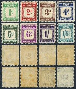 Solomon Isl J1-J8,MNH.Mi P1-P9. Postage Due Stamps 1940.Numeral.