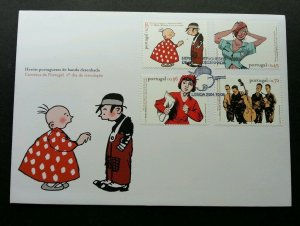 Portugal Portuguese Comic Strip Heroes 2004 Music Animation (FDC)