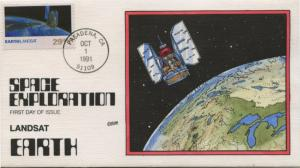 #2570 FDC 10/1/1991 PASADENA, CA HAND PAINTED BY COLLINS CACHET BU1138