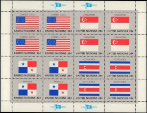 1981 United Nations #350-365, Complete Set(4), Set of 4 Different Panes of 16...