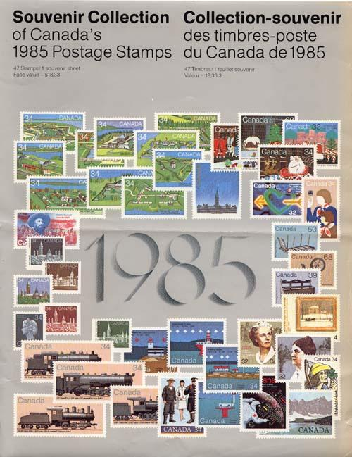 Souvenir Collection The Postage Stamps of Canada 1985 USC AC #28