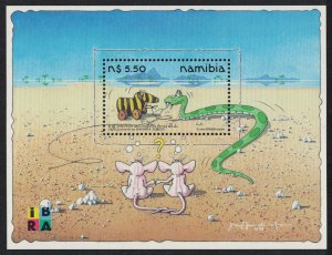 Namibia Yoka the Snake with Toy Zebra Cartoon MS SG#MS835