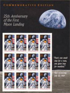 US 2841 - 29¢ Moon Landing Unused