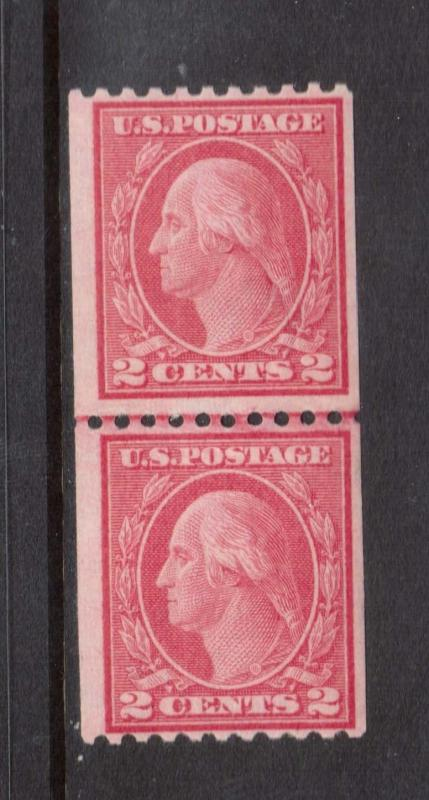 USA #450 Never Hinged Mint Line Coil Pair Variety