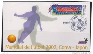 rO) 2002 COSTA RICA, WORLD CUP KOREA-JAPAN, FDC.