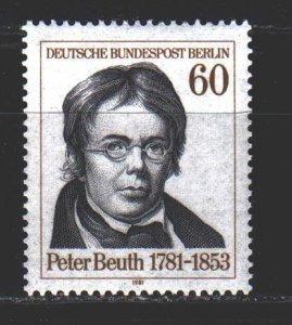 West Berlin. 1981. 654. Beut-Prussian statesman. MNH.