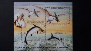Sao Tome and Principe 1982. - Prehistoric marine life / Charles Darwin ** MNH Bl