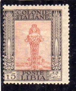 LIBIA 1921 PITTORICA CENT. 15c MLH