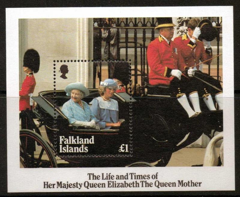 FALKLAND ISLANDS SGMS509 1985 QUEEN MOTHER MNH