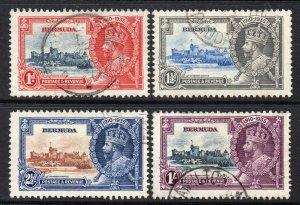 Bermuda 1935 KGV Silver Jubilee set SG 94-97 used CV £50