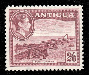 Antigua 1938 KGVI  2/6d maroon SG 106a MNH