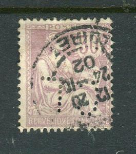 France #137 CL Perfin Used