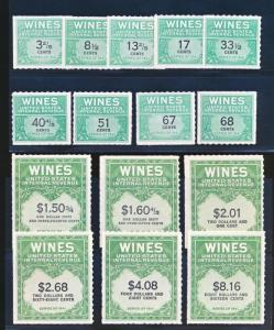 UNITED STATES RE183/RE203 15 DIFFERENT