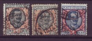 J515 jl,s stamps 1901-26 italy hv,s set 2-5 lira scv $23.00+