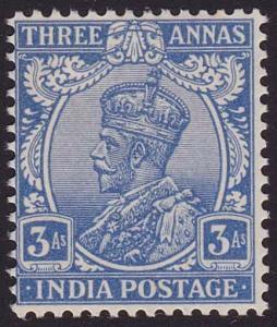 INDIA 1922-33 GV 3a ultramarine SG208 fine mint.............................6330