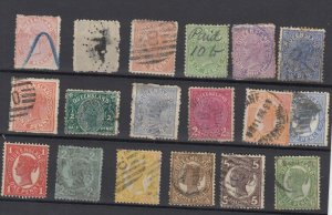 Queensland QV Collection Of 18 Fine Used JK6332
