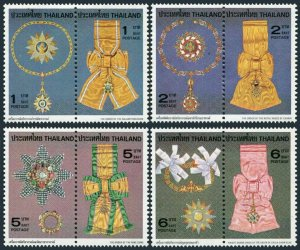 Thailand 899-906a pairs,MNH.Michel 922-929. Royal Orders 1979.Medallions,Ribbons