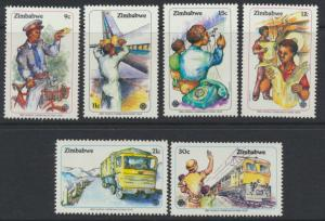 Zimbabwe  SG 630-635  SC# 464-469 MNH Communications  see detail and scan