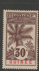 French Guinea SC 40 Trees MOG (9ckv)