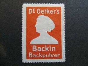 A4P2F4 Germany Reklamemarke Dr. Oetker's mint no gum