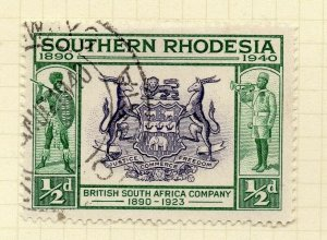 Southern Rhodesia 1940 Early Issue Fine Used 1/2d. NW-14403