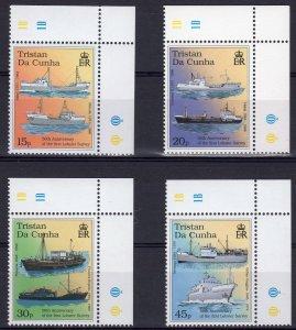 Tristan Da Cunha 1998 Sc#612/616 First Lobster Survey - SHIPS Set (4) MNH