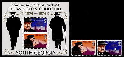 South Georgia 39-40a MNH Winston Churchill, Ship