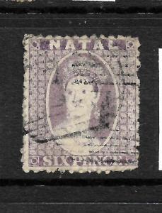NATAL  1863-65  6d  QV   FU    SG 23