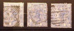 Great Britain 3 Ea Scott 82 Used Plates 21,22,23 F-VF