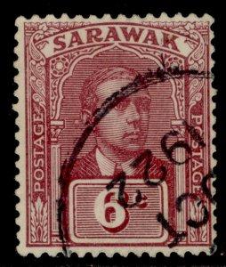 SARAWAK GV SG67, 6c claret, FINE USED.