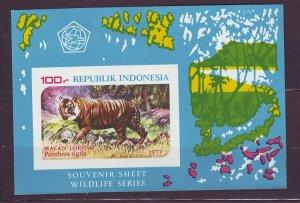 J22752 JLstamps 1977 indonesia s/s mnh #1016a tiger