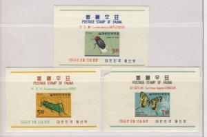SOUTH KOREA 1966 INSECTS BLOCK ISSUE - MiNr. Block233/35- YvertNr113/15 MOGH 113