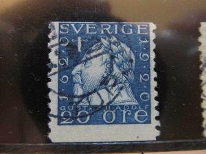 Schweden Suède Suecia Sweden 1920 Unwmk 20o fine used stamp A11P21F331