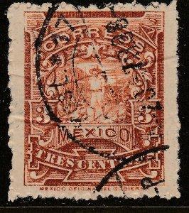 MEXICO 259 3¢ MULITA WMK INTERLACED RM USED  F-VF. (159)