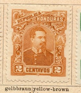 Honduras 1891 Early Issue Fine Mint Hinged 2c. NW-11891