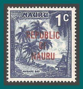Nauru 1968 Independence, Anibare Bay, 1c MNH 72,SG80