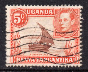 KUT 1938 KGVI 5c perf 13x11¾ SG 133 used - Kenya Uganda Tanganyika.