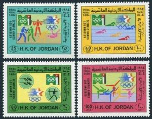 Jordan 1194-1197,1197a,MNH. Olympics Los Angeles-1984:Swimming,Shooting,Archery,