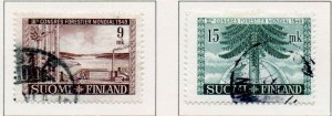 Finland Sc 281-82 1949 Forestry Congress stamp set used