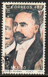 MEXICO 1052 40cts Centenary birth of Pres Madero. Used. VF. (338)