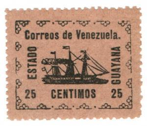 (I.B) Venezuela Local Post : Guyana State 25c