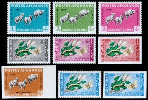 Afghanistan Scott 637-641, C42-C44 P&I (1963) Mint H VF Complete Set C