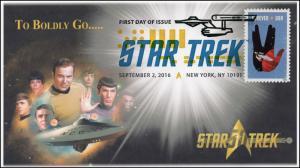 2016, Star Trek, 50 years, Digital Color Postmark, 16-254
