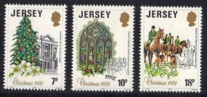 Jersey  1981  MNH  Christmas   complete