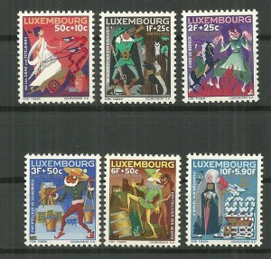 1965 Luxembourg compl. Caritas set of 6 MNH